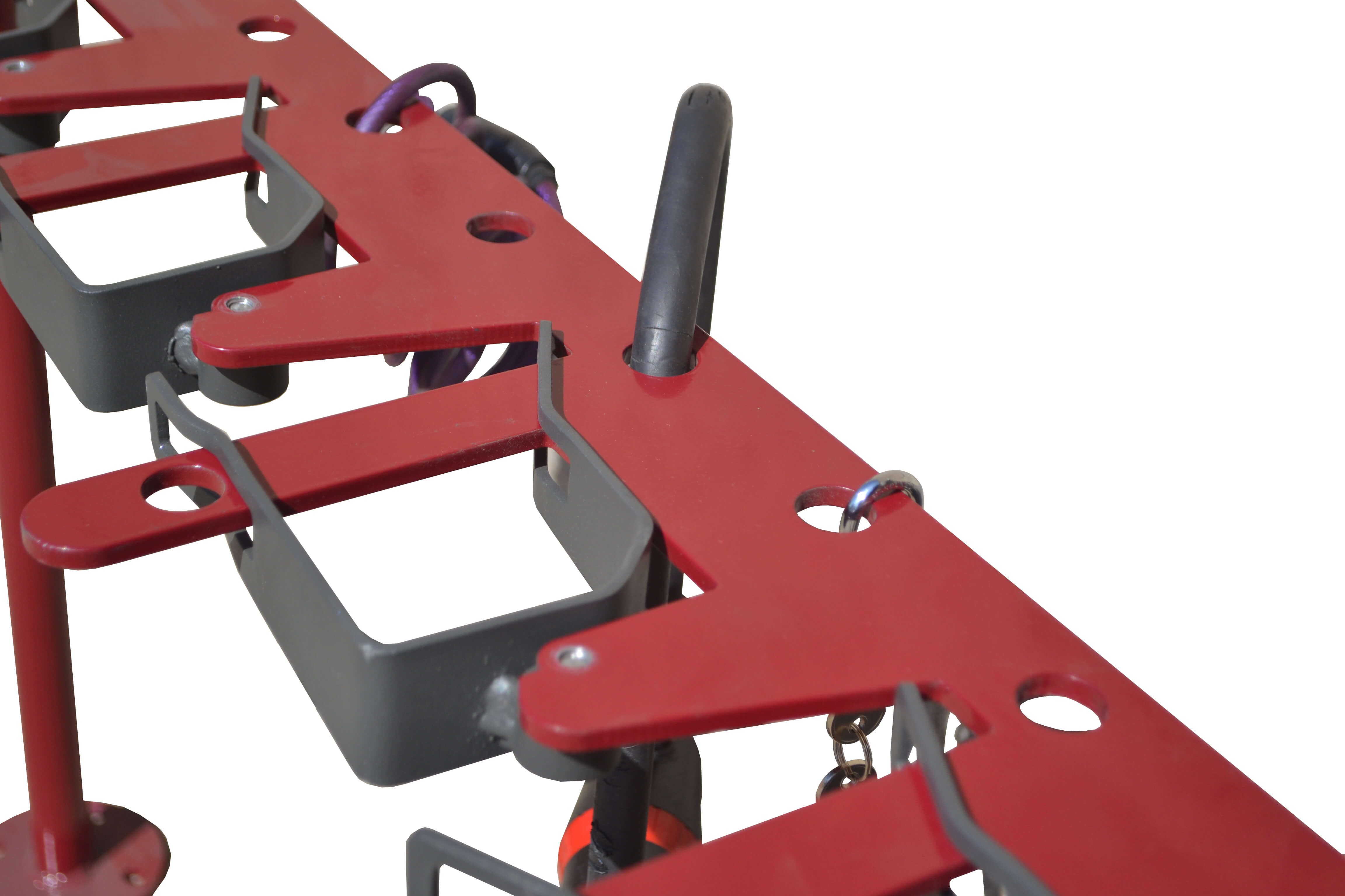 Tjinco Stepstalling gemaakt om stepjes te parkeren met een slot