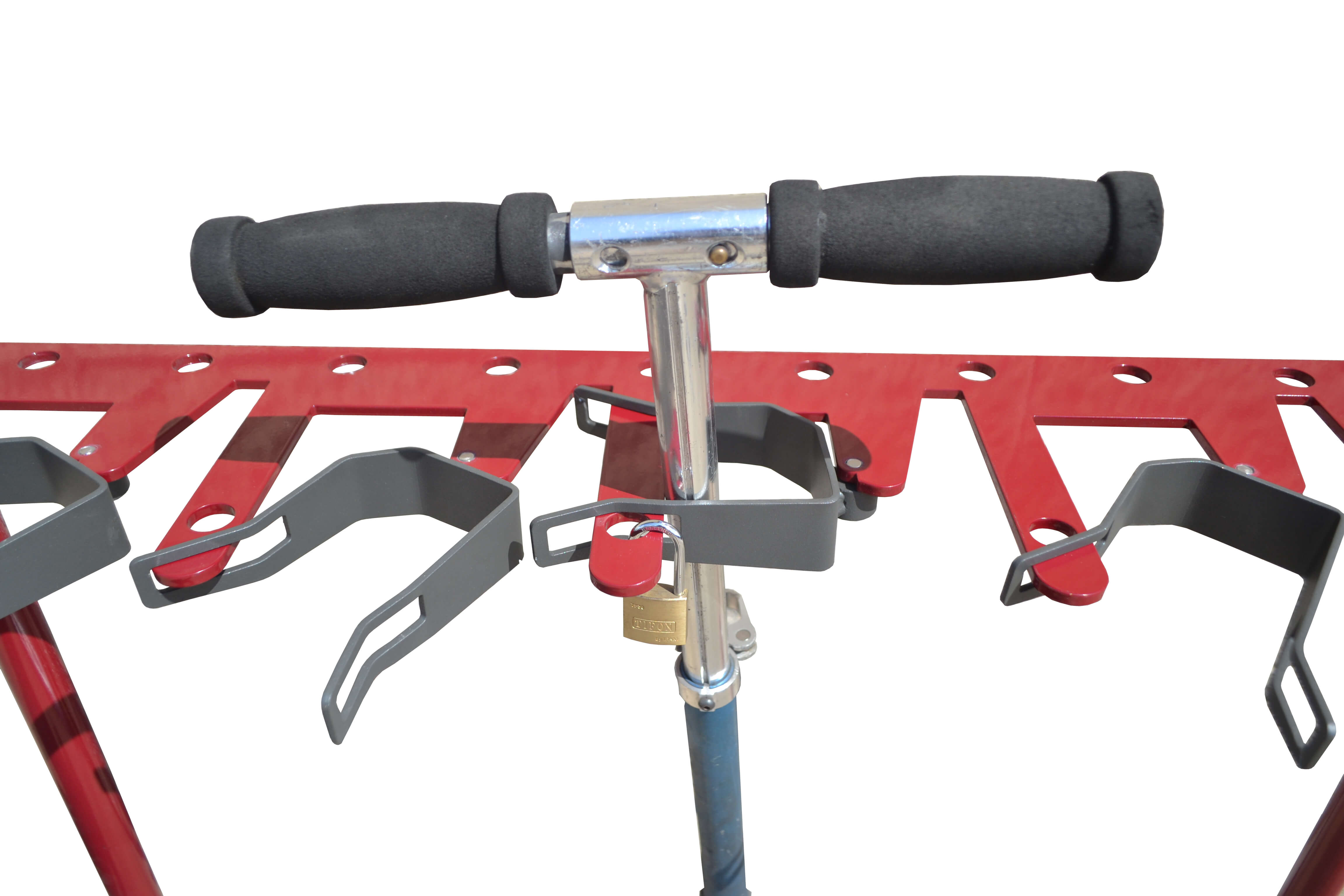 Scooter rode steprekjes eenvoudig te plaatsen en te monteren op een schoolplein