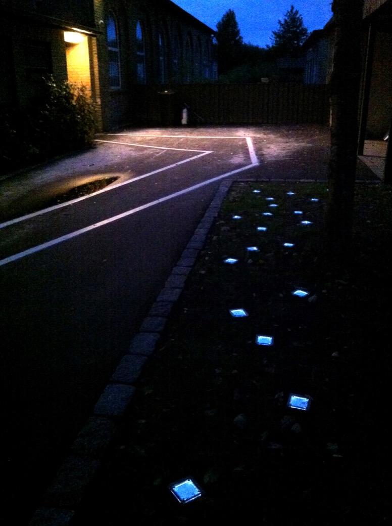 Sunstone verlichting - LED-verlichting in een tegel