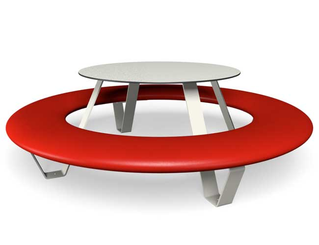 Buddy picknicktafel - Rood