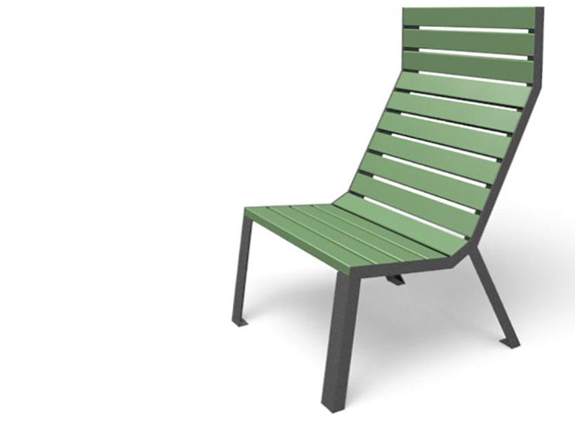 Easy stoel is beschikbaar met een hoge als een lage rugleuning