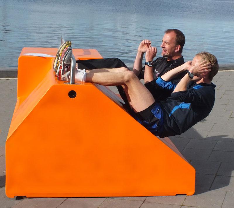 Fitstation sporttoestel om samen te sporten buiten