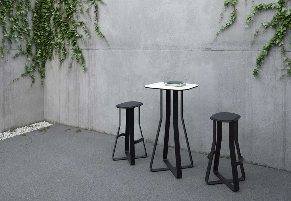 Hot Shot tafel voor in de openbare en semi openbare ruimte