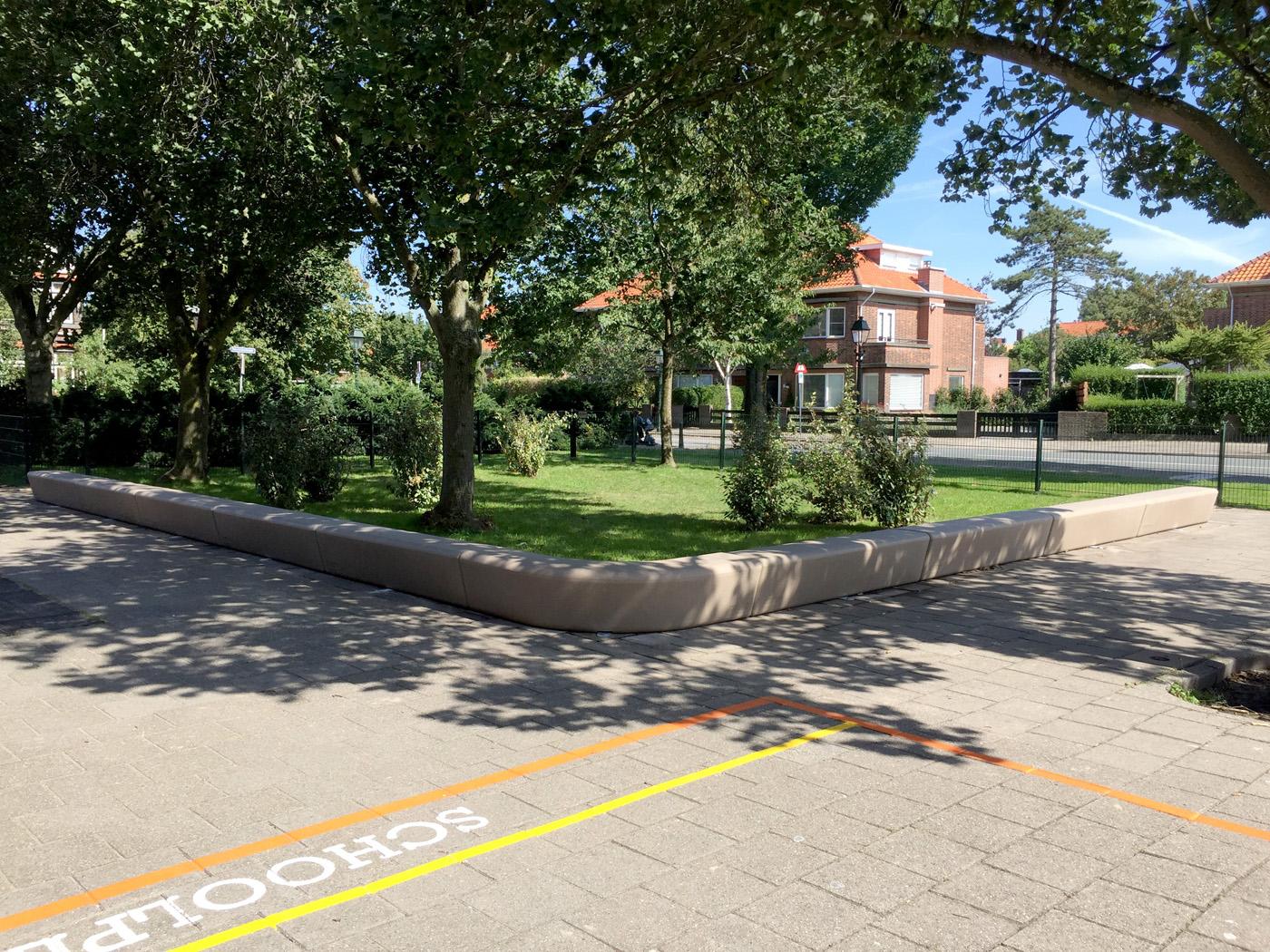 Loop Corner Bank - 90 graden hoekbank