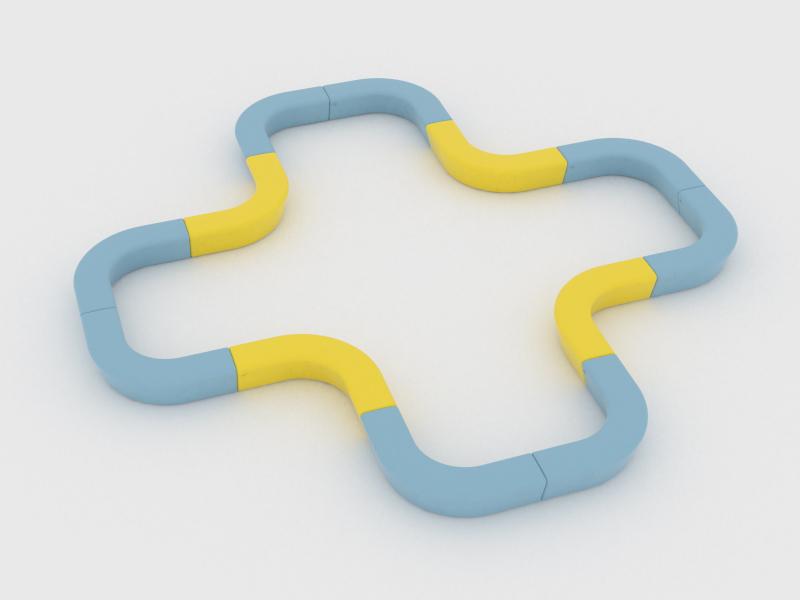 Loop Corner Banken creëeren een speelse omgeving