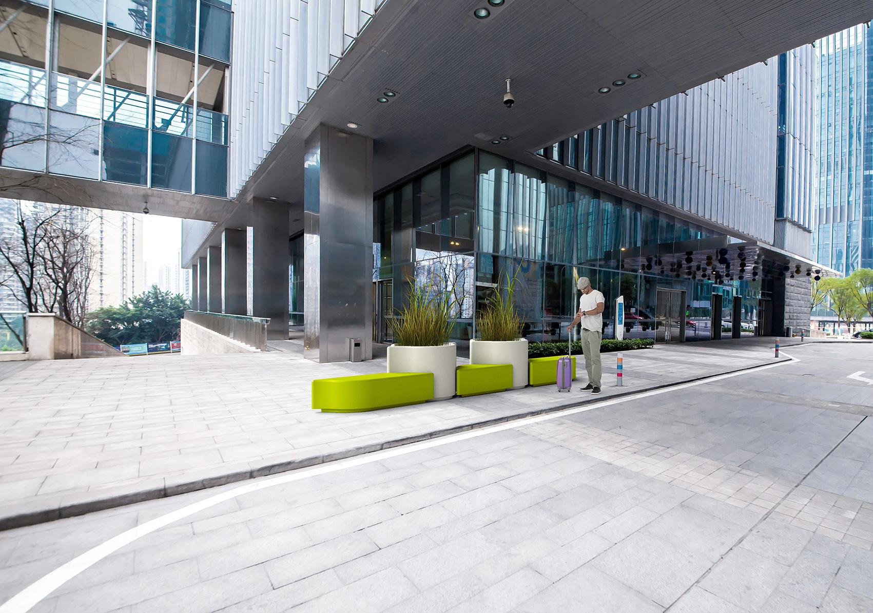 Lungo bank voor openbare ruimtes als kantoren en musea