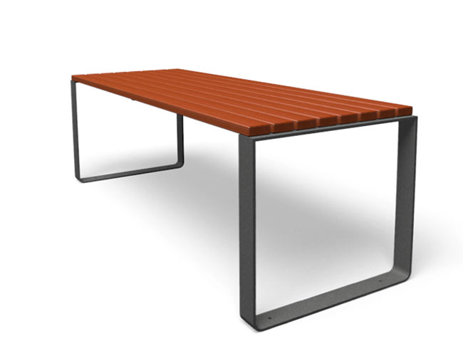 Mayfield tafel hout rood