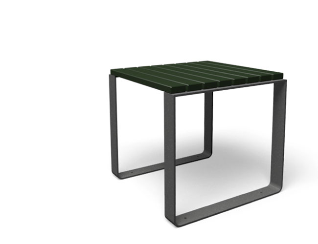 Mayfield tafel hout staal zwart