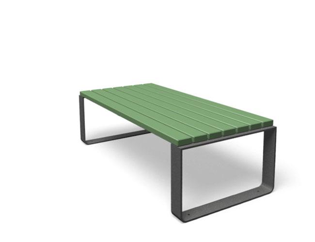 Mayfield tafel hout staal groen