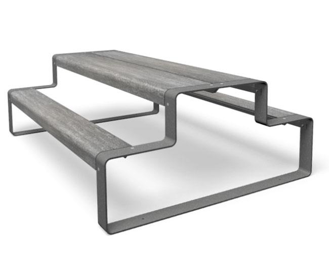 Outline picknicktafel grijs