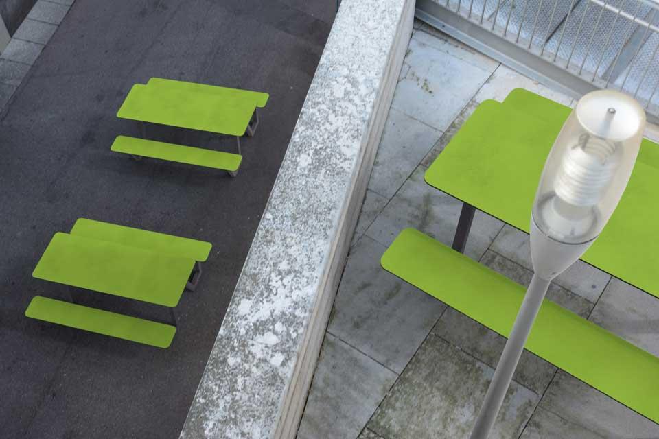 Picnic HPL picknicktafel beschikbaar in opvallende kleuren