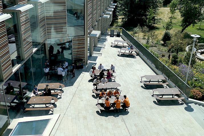 Plateau-L picknicktafel voor op het schoolplein of kantoor