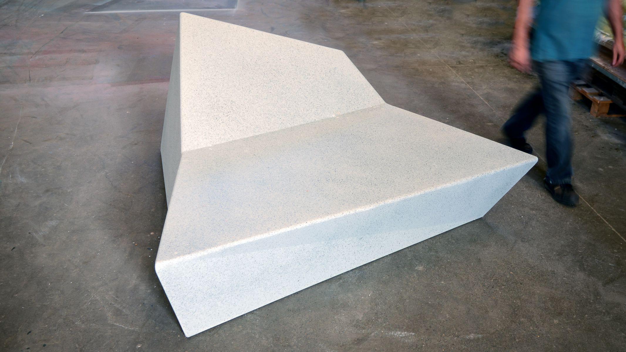 Roc zitelement van beton - zitsteen