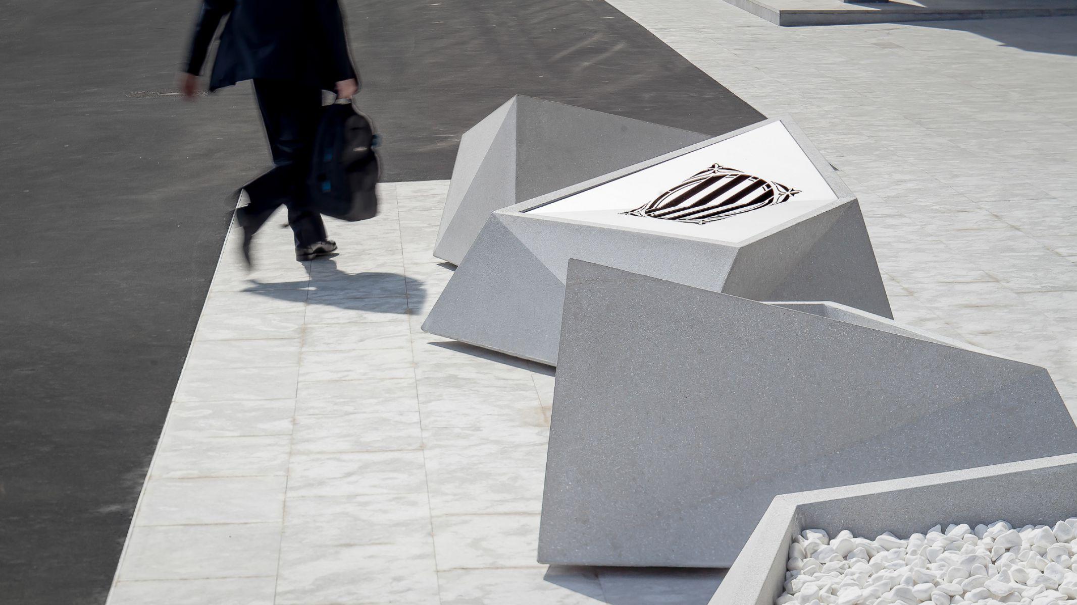 Roc zitelement is ideaal voor openbare pleinen