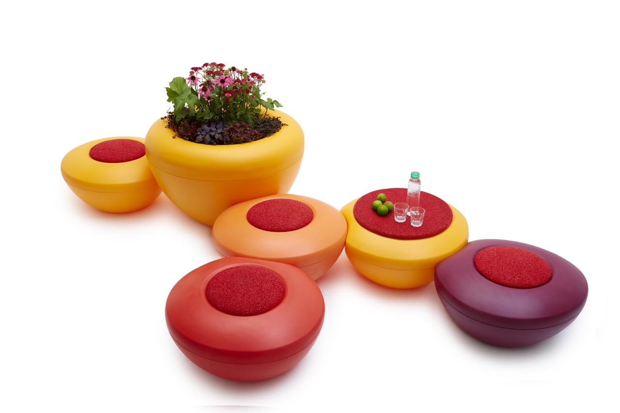 Scopi zitelement voor een kleurrijke binnen- en buitenruimte