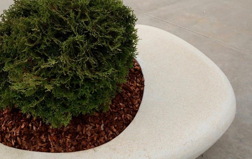 Plantenbak supercell van beton voor planten