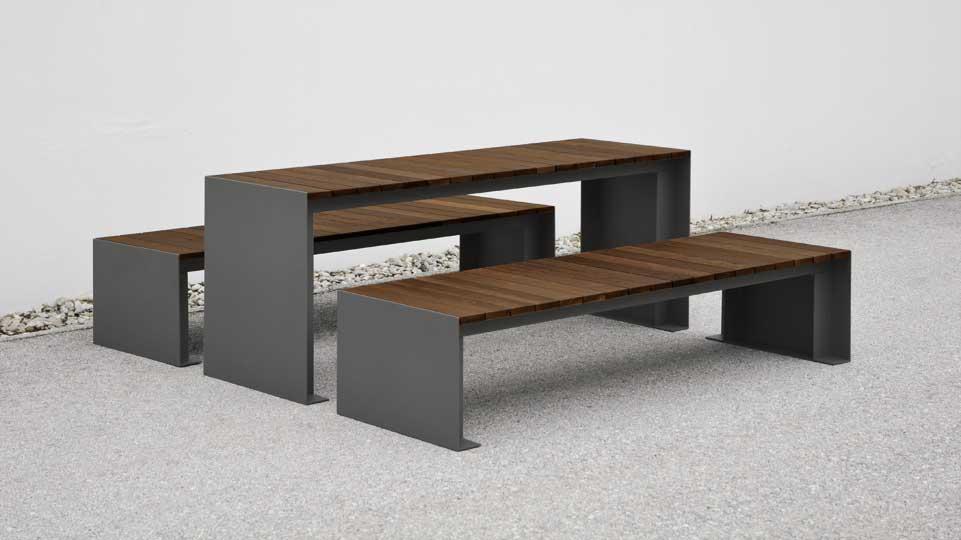 Passepartout Wood tafel met Passepartout Wood banken