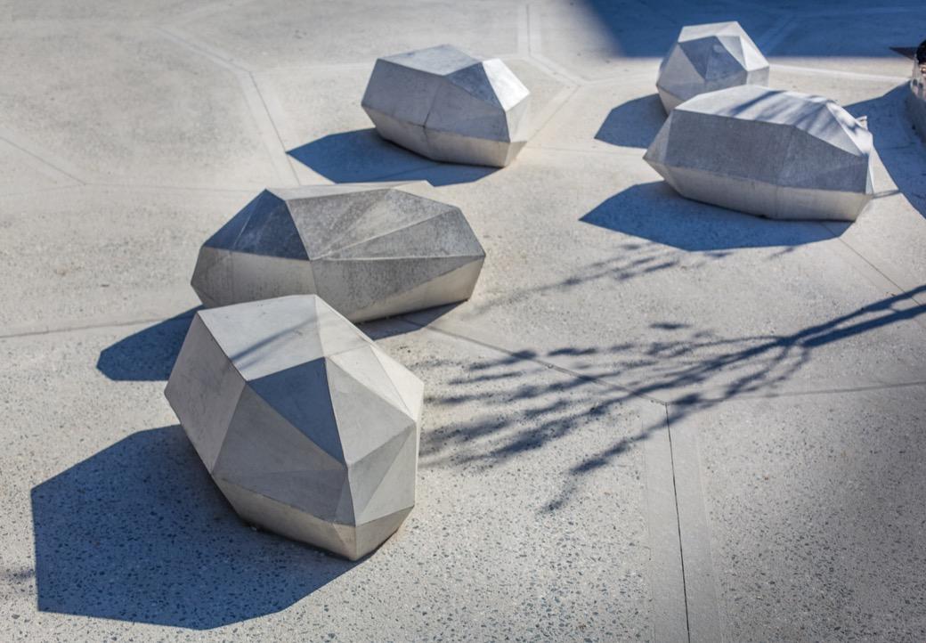 Stone zitelement beton steen om op te zitten