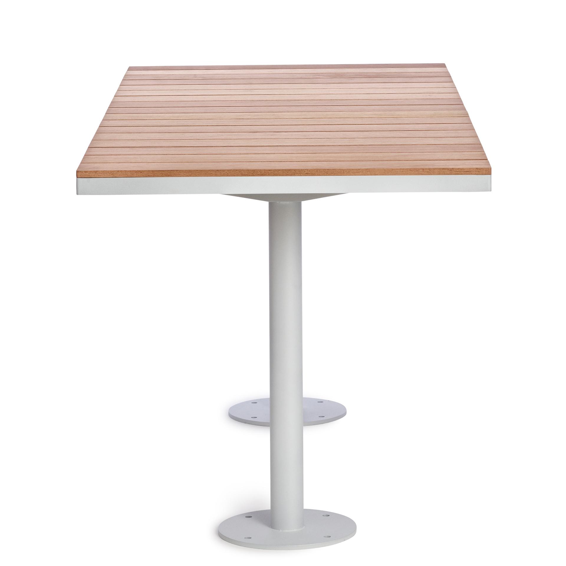 Parco tafel - blad van hout en frame van gegalvaniseerd staal