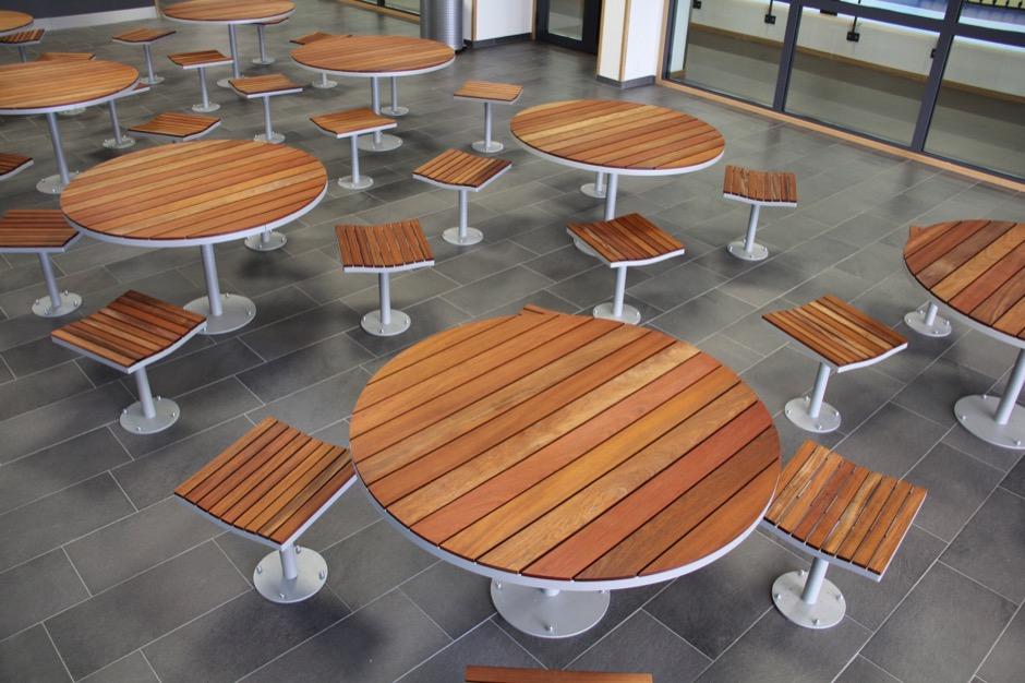 Parco tafel ook geschikt voor de openbare binnenruimte als kantines