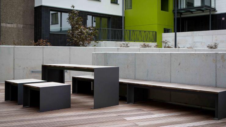 Passepartout Wood tafel kent een strak en modern design