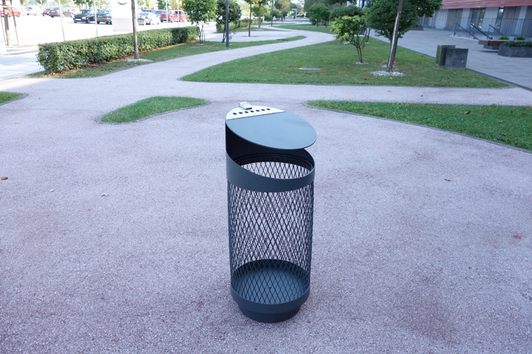 Tubo V security veiligheidsbak - transparante afvalbak voor parken