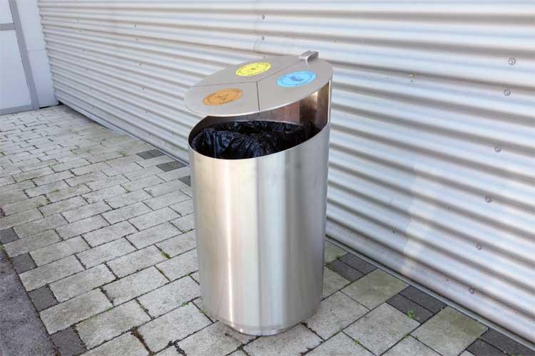 Tubo afvalbak - om afval te scheiden