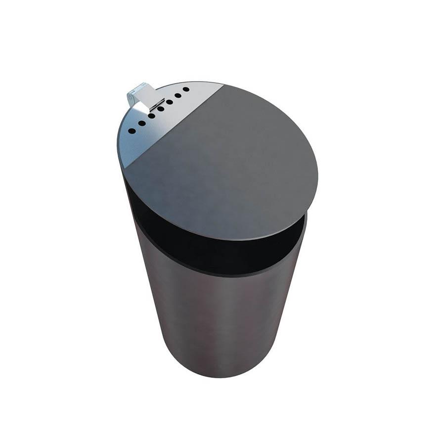 Tubo afvalbak - zwart