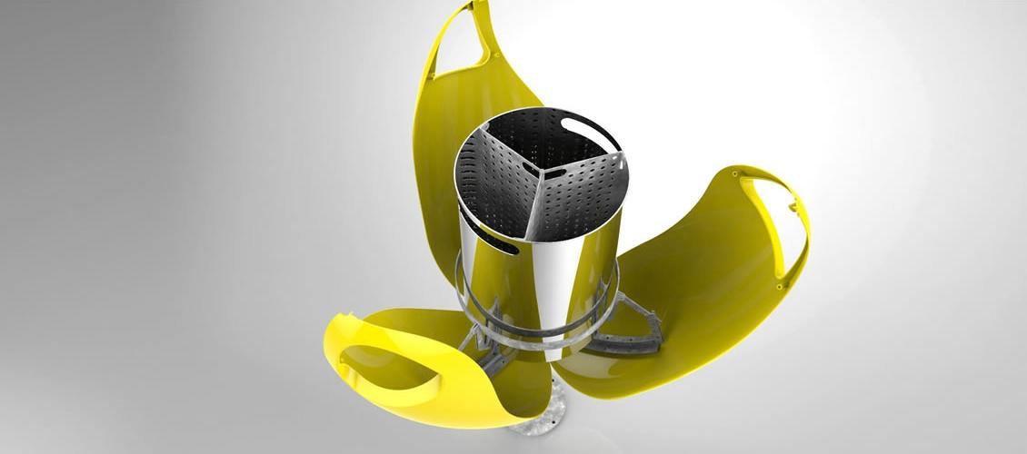 Tulpi bin afvalbak - eenvoudig te openen