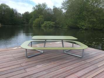 Plateau-O picknicktafel rond - in een park