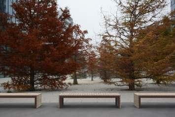 Woodrow bank voor parken, pleinen en buitengelegenheden