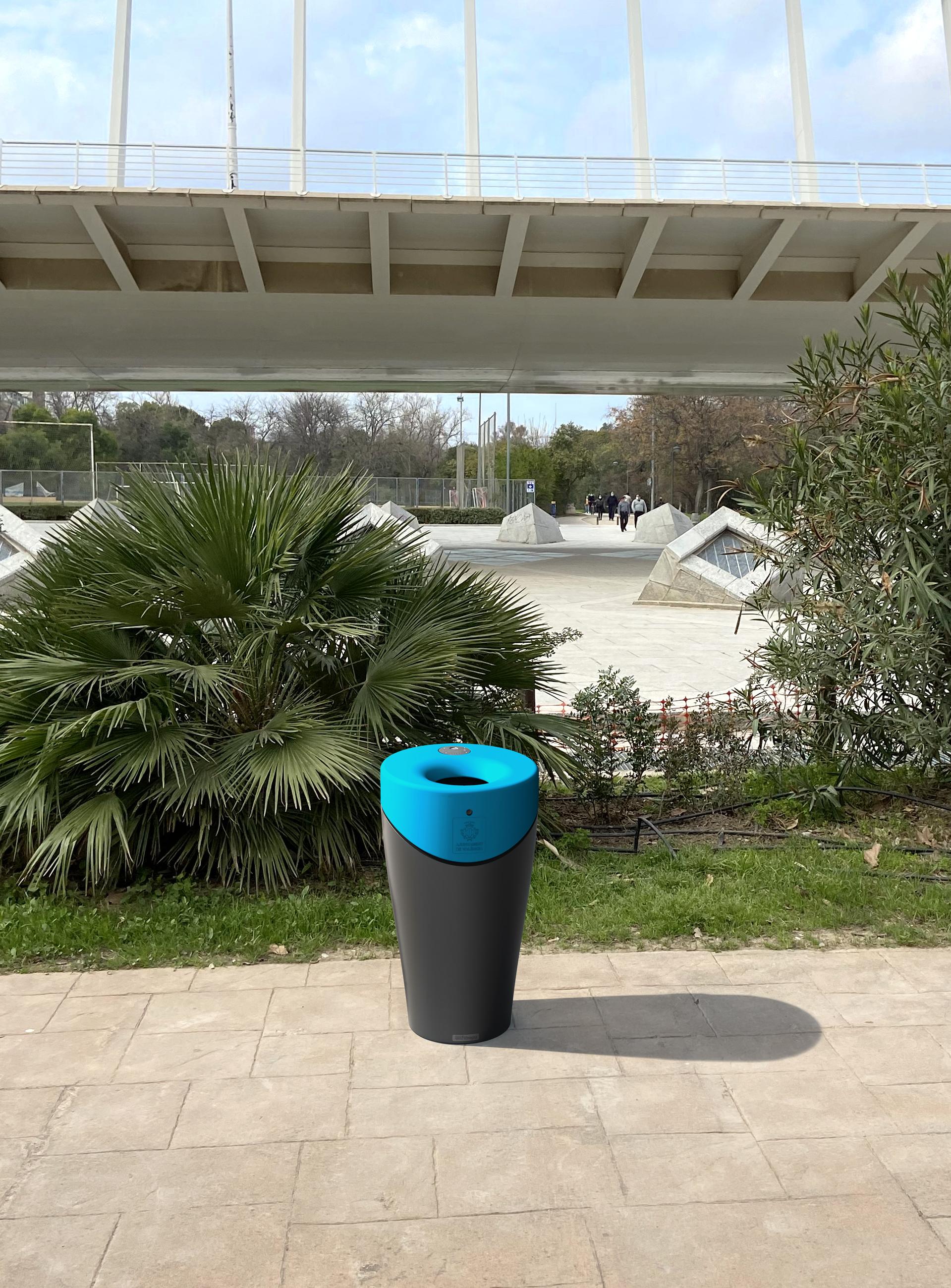 Afvalbak Alvium Urban in azuur blauw