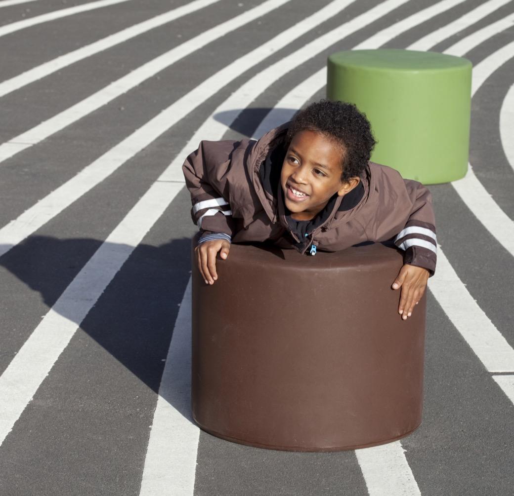 HopOp 500 kruk is kindvriendelijk door afgeronde vormen
