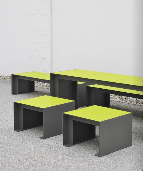 Passepartout HPL Tafel ook geschikt voor de openbare binnenruimte