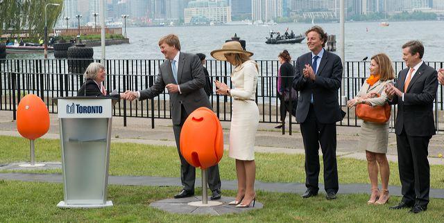 Toronto ziet er na het staatsbezoek van koning Willem-Alexander en koningin Maxima aan Canada een stuk fleuriger uit