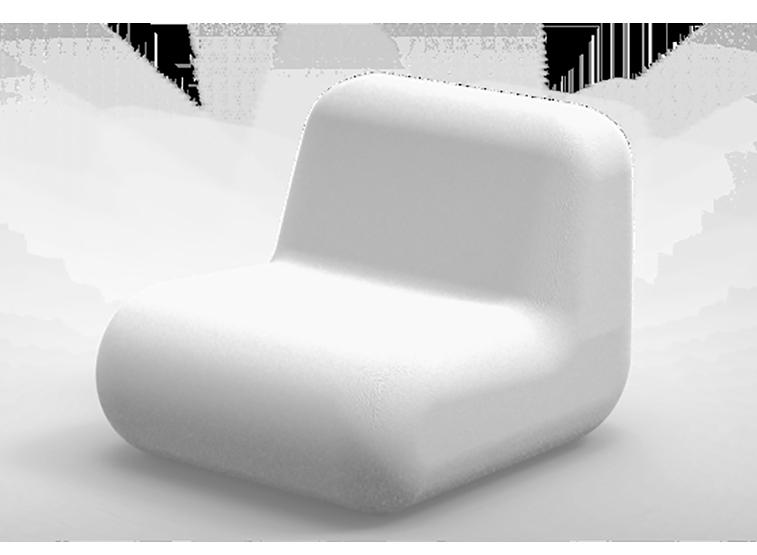 Rio zitelement wit stoel van gerecycled kunststof