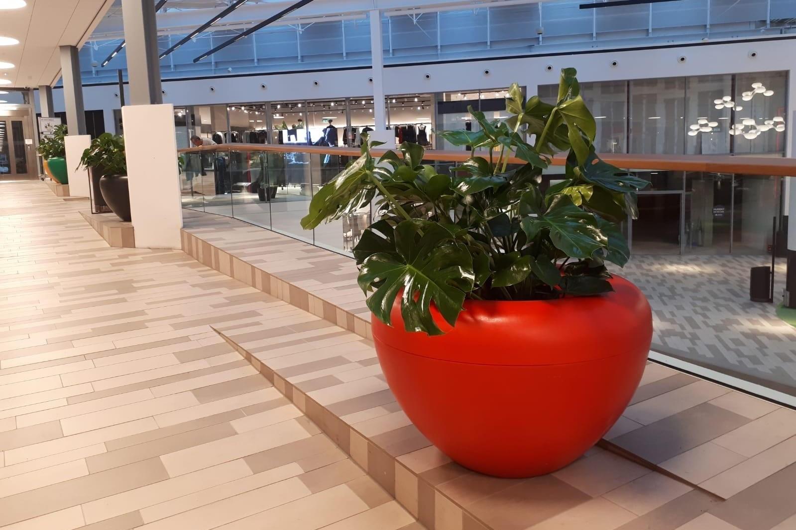 Scoop plantenbakken voor winkelcentrum de Oranjerie in Apeldoorn
