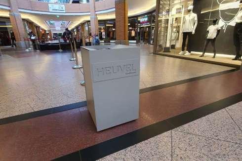 Fraaie ergonomische afvalbakken voor winkelcentrum Heuvel Eindhoven