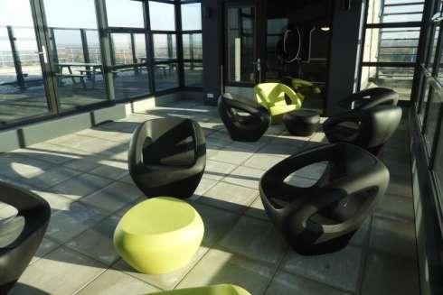 Lonc Seaser stoelen voor dakterras Universiteitscampus Twente